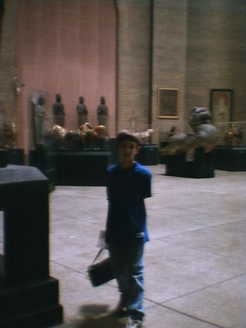 Zak at a museum.